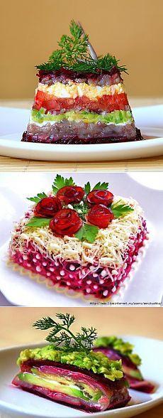 Рецепты праздничных салатов со свеклой: приготовление и красивое оформление / Простые рецепты