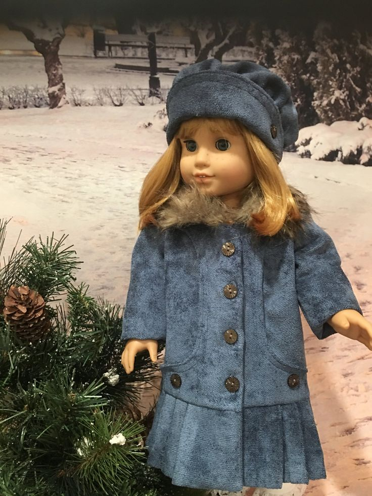 Reserved Beverly Hills Coat and Hat fits American Girl