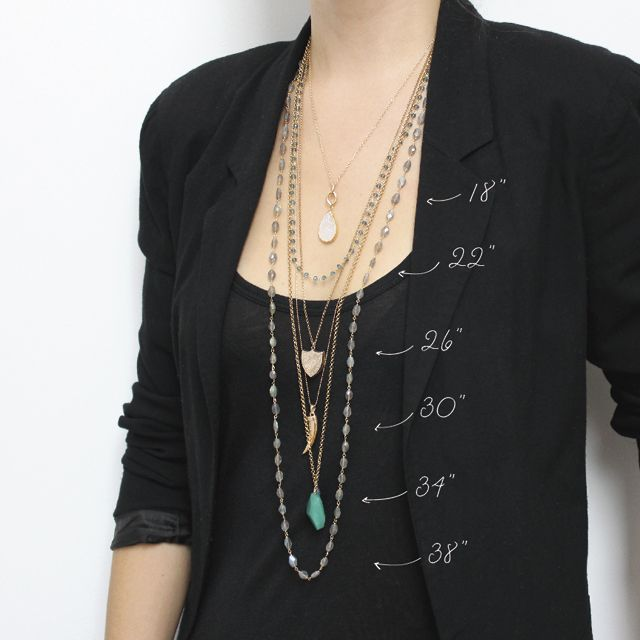 Guide to necklace lengths & layering