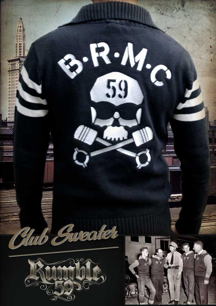 Rumble59 Racing Sweater Brmc Sweaters Rockabilly