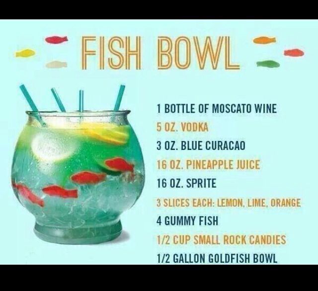 fish bowl drink drink me pinterest fish bowl drinks