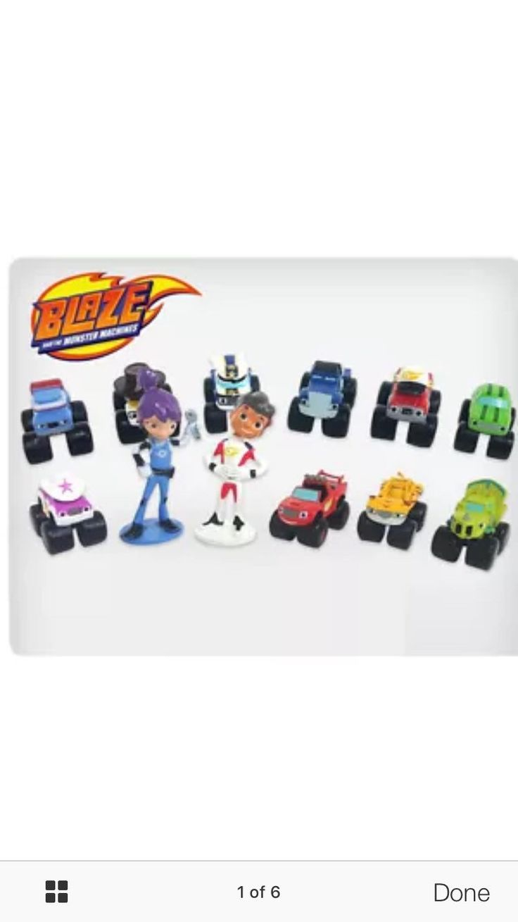 Ni nick jr games and coloring on online - Mister A Gift Nick Jr Blaze And The Monster Machines Set Of 12 Plastic Cake Toppers