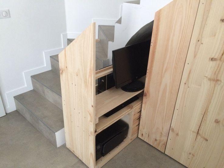 13 best Aménagement escalier images on Pinterest Stairs, Furniture - fixation porte de placard