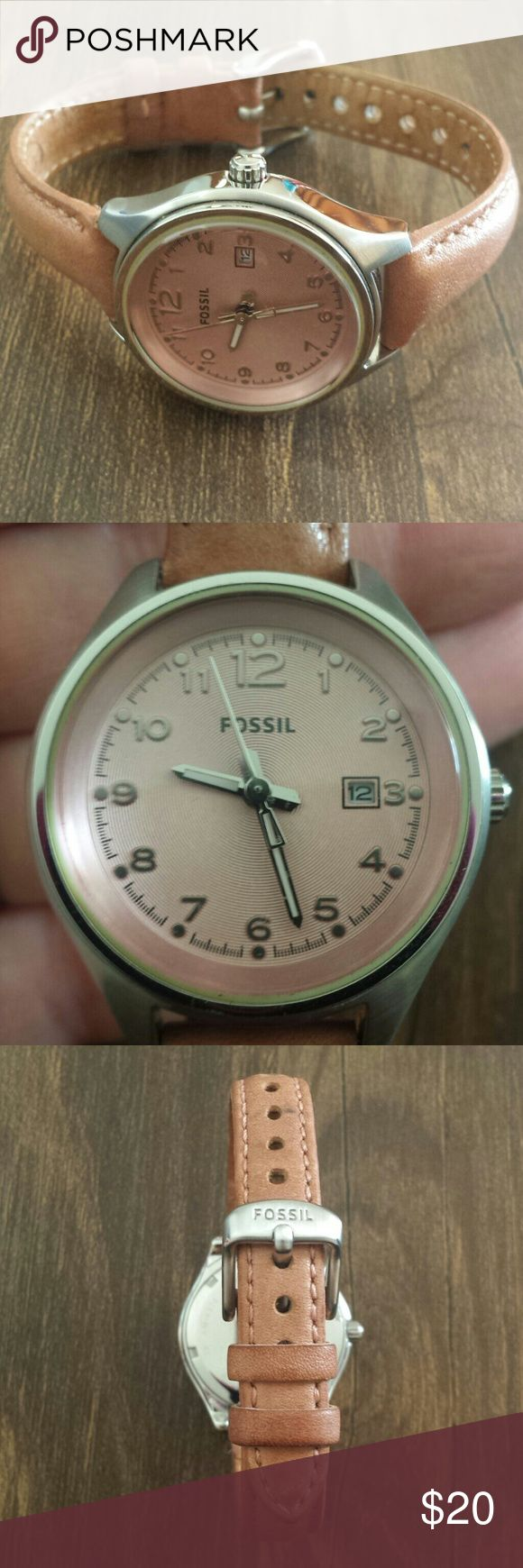 Fossil Watch This is a used Fossil watch and needs a new battery. Fossil Accessories Watches