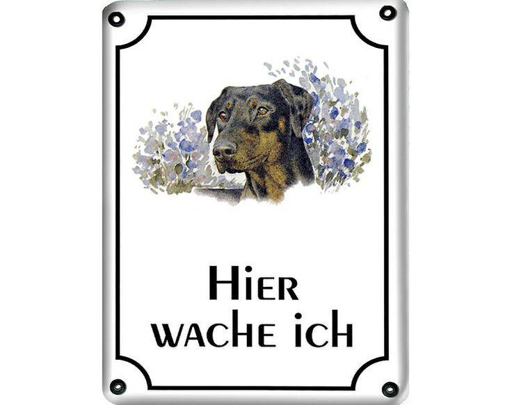 Emaille Türschild mit Hund - 36 Rassen zur Auswahl von 1a-Geschenkeshop auf DaWanda.com