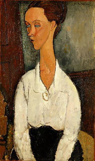 アメデオ・モディリアーニ 《ルニア・チェホフスカの肖像》 1917年