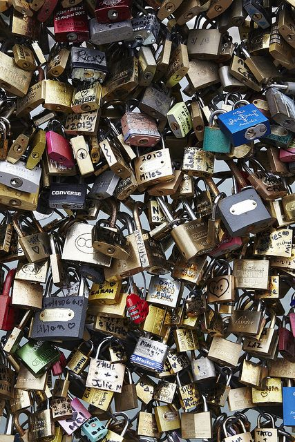 You and a friend carve your initials into a padlock, attach the padlock to a bridge and throw the key into the river, so that even if the friendship fades the padlock will always be there to remind you of the good times