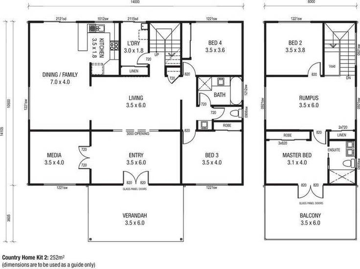 Floor Plans for Homes with the door