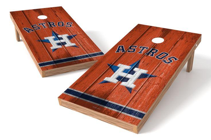 Houston Astros Cornhole Board Set - Vintage