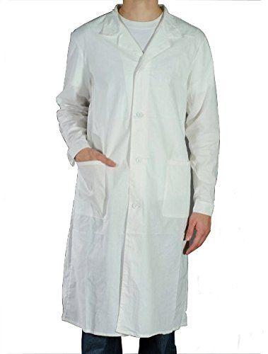 Blouse blanche Laboratoire 100% coton – chimie pharmacie medicale hygiene
