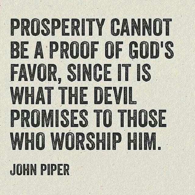 christian quotes | John Piper quotes | prosperity