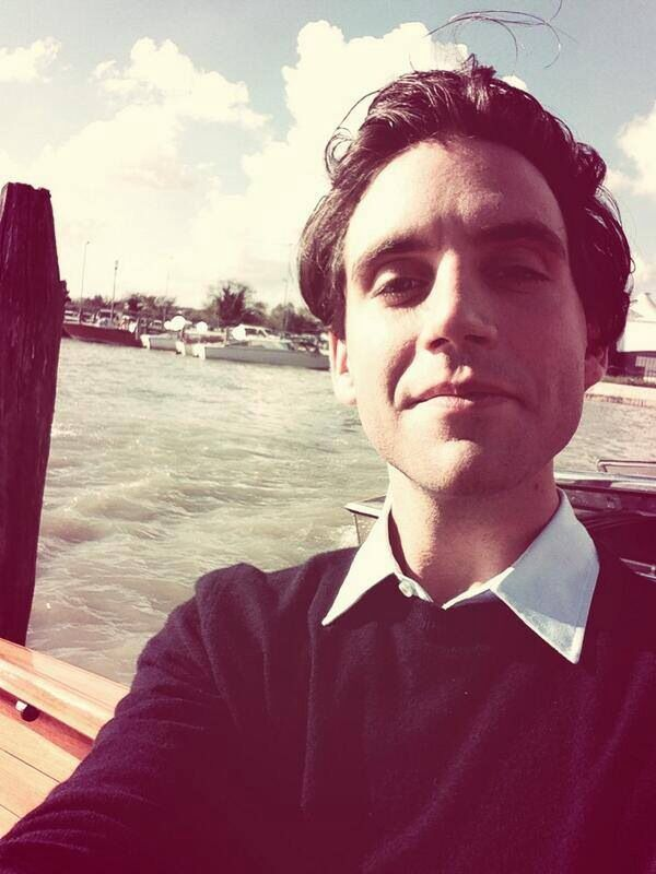 "From Mika's twitter. ""Just arrived in Venice taking a water taxi into the city"". 05 Nov 2013"