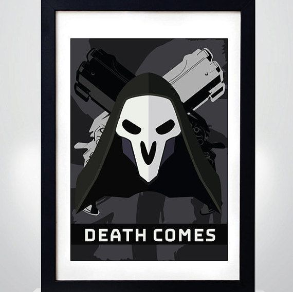 REAPER OVERWATCH Wall Art Print Game Poster by MixPosters on Etsy