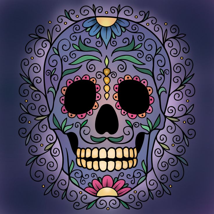 Our Free Weekly Coloring Challenge Is From The Day Of Dead Book Have You Tried Pigment App Yet Its Best Adult For IPhone