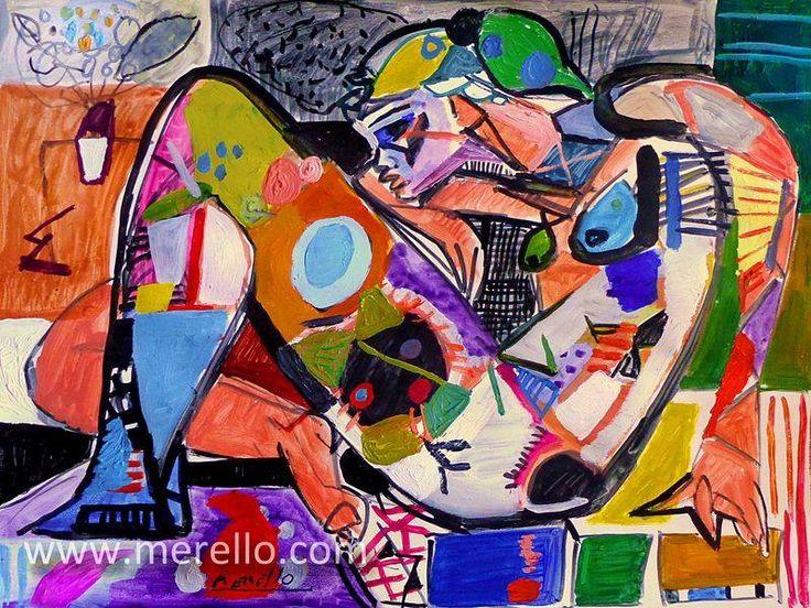 "CONTEMPORARY ART. Jose Manuel Merello.- ""La luz del color en ti."" MODERN ART PAINTING http://www.merello.com"