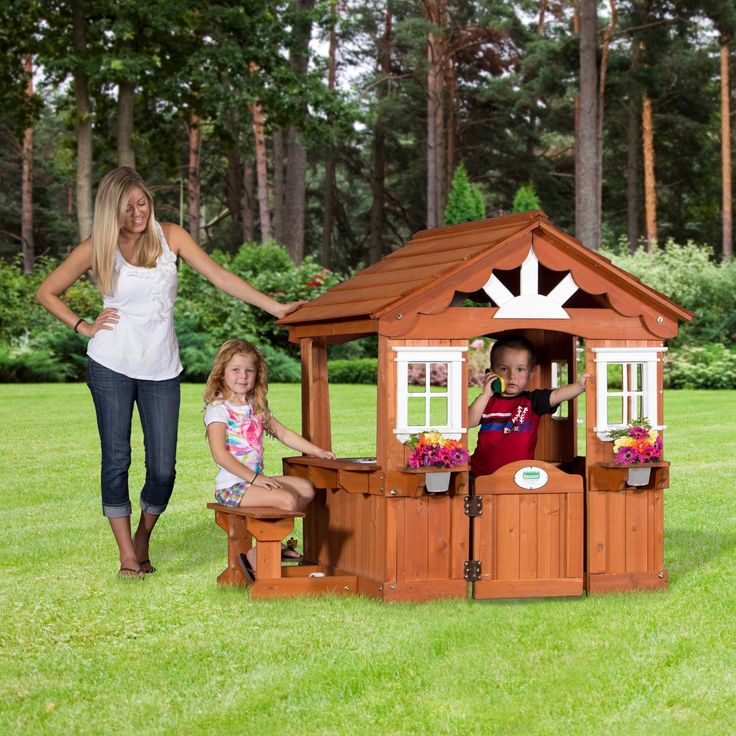 Backyard Discovery Scenic Playhouse - The Backyard Discovery Scenic Playhouse gives your kids the opportunity to act just like you. As frightening as that prospect may sound sometimes,...