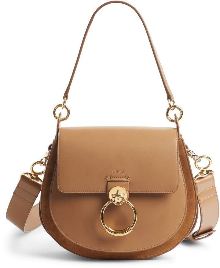 940098b54e Chloé Medium Tess Calfskin Leather Shoulder Bag - Brown in 2019 ...