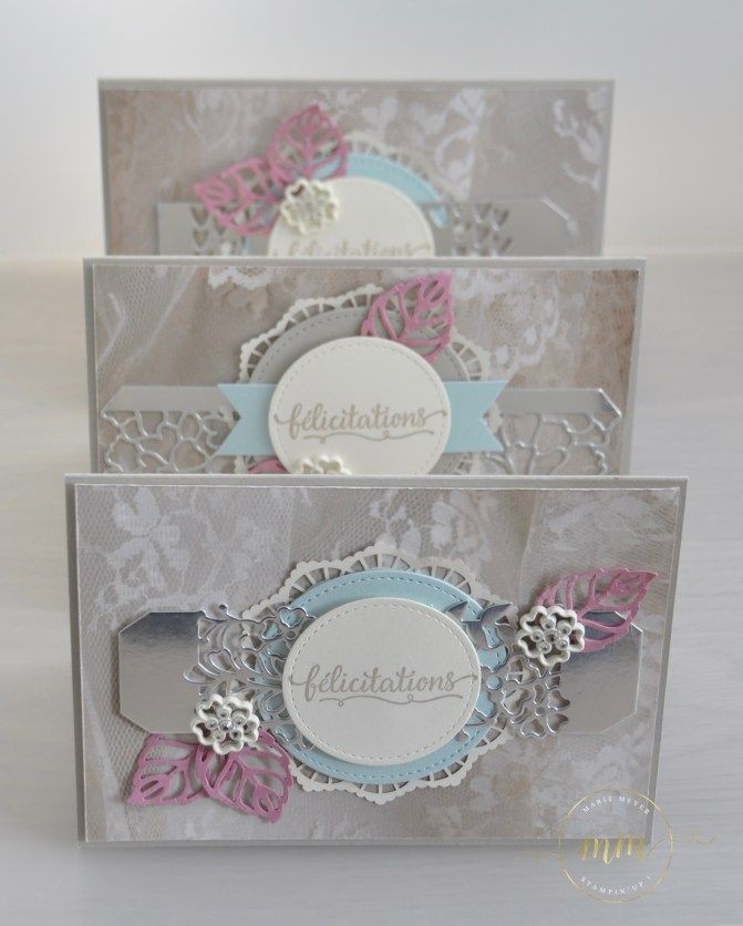 cartes de flicitation de mariage thinlits en dtails par marie meyer stampin up http - Carte De Flicitation De Mariage