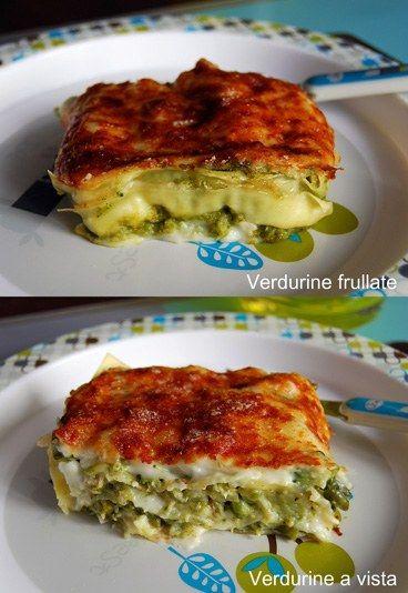 lasagnetta di verdure frullate o a vista | Le #ricette dedicate ai #bambini da 1 a 6 anni | #lasagne