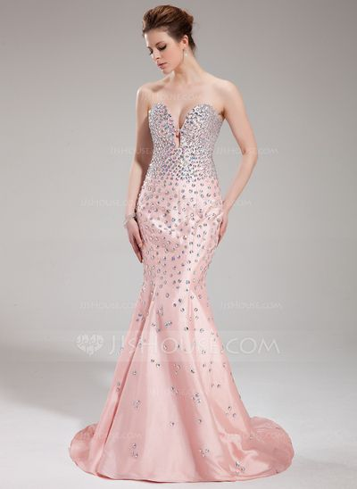 Evening Dresses - $198.99 - Mermaid Sweetheart Sweep Train Taffeta Evening Dress With Beading (017019552) http://jjshouse.com/Mermaid-Sweetheart-Sweep-Train-Taffeta-Evening-Dress-With-Beading-017019552-g19552?ver=0wdkv5eh