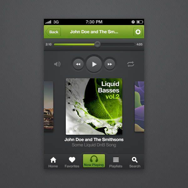 Создаём интерфейс приложения для iPhone в Фотошоп | MaxEvent.biz
