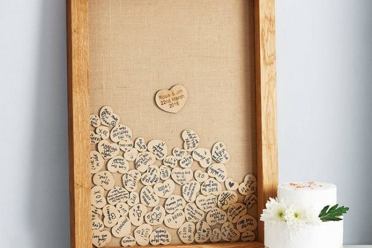 livre d'or mariage -puzzle-coeurs-bois-voeux-noms-invites