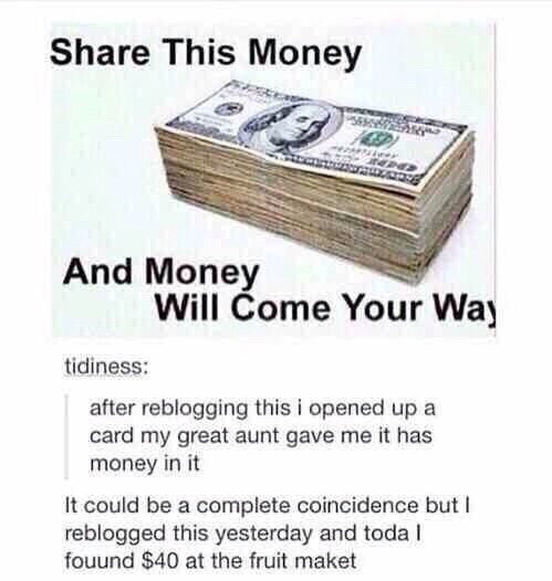 Edit: I pinned this yesterday and today I made thirty dollars from helping my sister babysit.