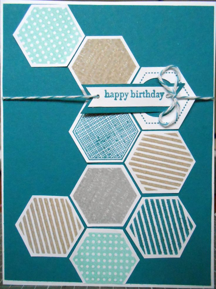 Stampin' Up Hexagon punch teamed up with six sided shapes sampler stamp set.