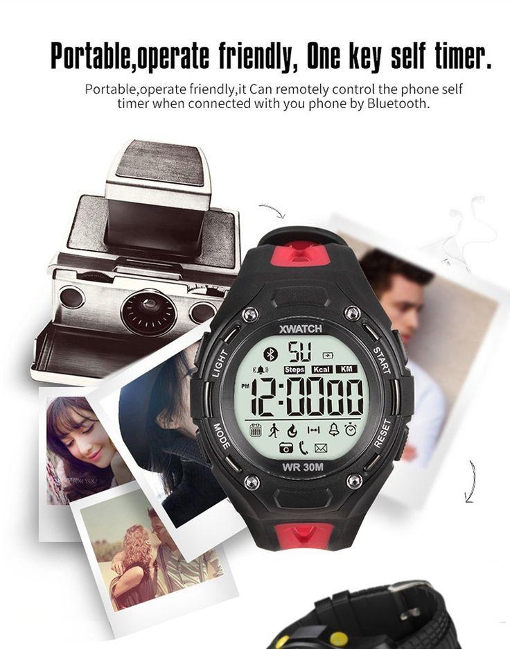 Xwatch Bluetooth 4.0 Waterproof Outdoor Sports Smart Watch Red - Tmart