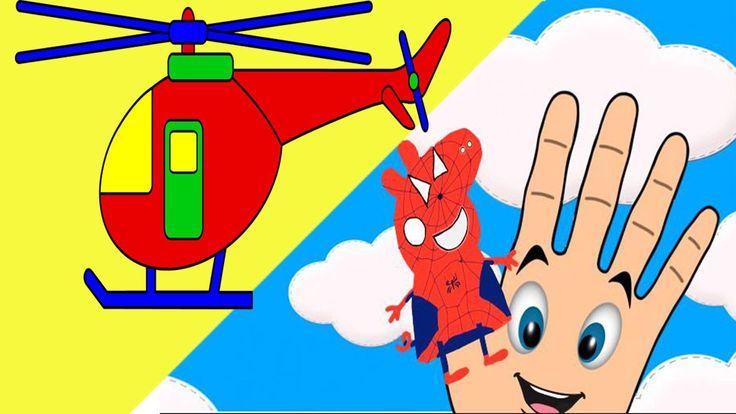 Finger Family Song Peppa Pig en español Spiderman Cartoon Learn Color - ...