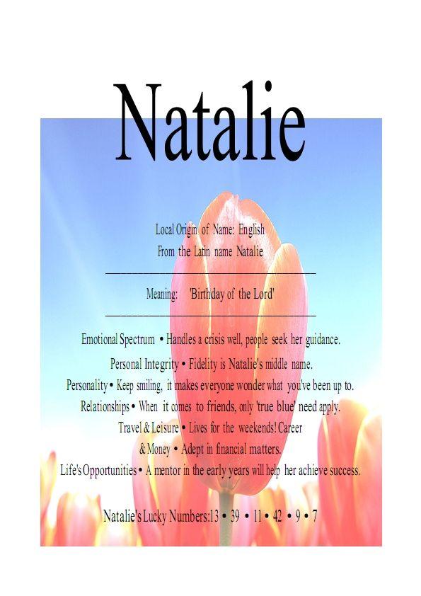 Name Natalie - Meaning, origin etc. - Girl Names - Baby ...
