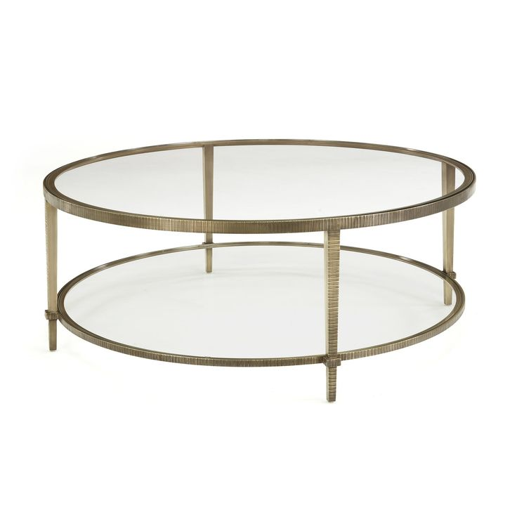 Linear Coffee Table  Traditional, Transitional, Glass, Metal, Coffee  Cocktail Table by Profiles