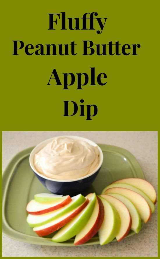 Fluffy Peanut Butter Apple Dip recipe - this would be a great healthy snack or appetizer for a party!