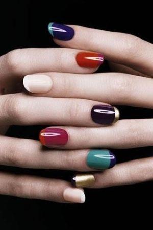 YSL multi-color French mani by Deborah M Lock