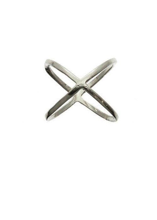Cross Midi Ring (Silver) – EvaMaria Boutique
