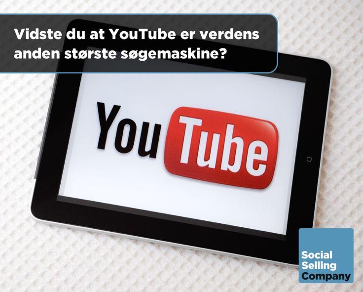 5 fakta om YouTube som du måske ikke kender til:  1. YouTube er VERDENS 2. STØRSTE søgemaskine! 2. YouTube er det 4. MEST BESØGTE website i Danmark! 3. YouTube har mere end EN MILLIARD brugere HVER MÅNED! 4. Der bliver vist 4 MIA. VIDEOER på YouTube HVER DAG! 5. Der bliver uploadet 300 TIMERS VIDEO til YouTube HVERT ENESTE MINUT!  Video er et utrolig effektivt medie og er faktisk 80 % mere effektiv end tekst. Samtidigt er video er det mest engagerende medie du overhovedet kan anvende.