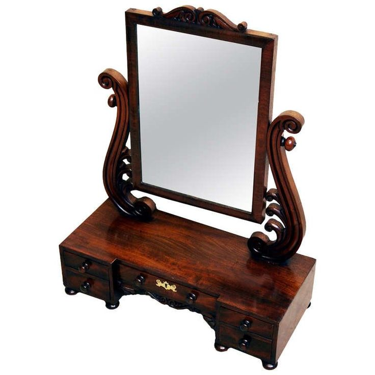Antique Victorian Dressing Table Mirror 1