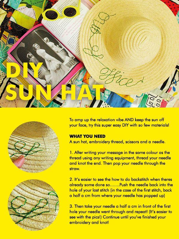 DIY Sun Hat