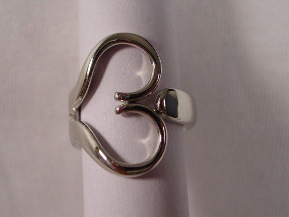 Fork Ring Fork Heart Ring Original Design Any by SpoonRingsPlus, $20.00