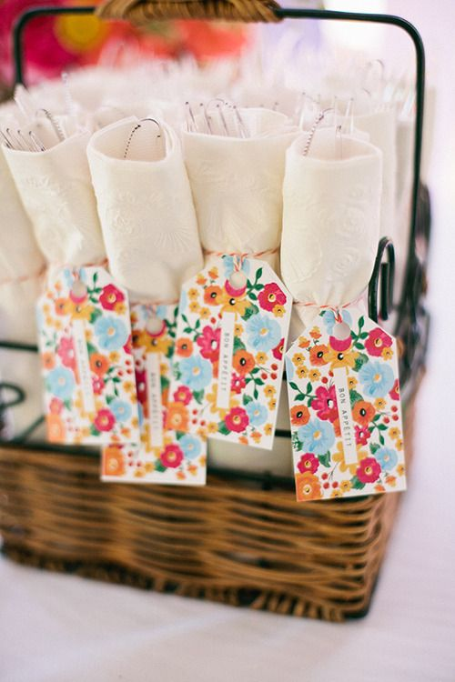 Cute and colorful way to spruce up the plastic ware