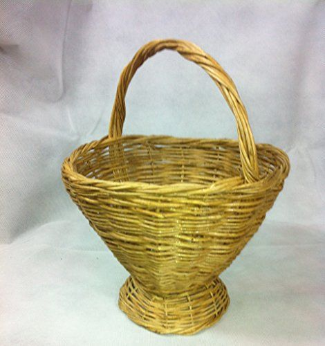 Natural Handmade Round Wicker Fruit / Flower Basket with handle 25 cm: Diameter 25 cm x Height 20 cm Verdi http://www.amazon.co.uk/dp/B00QOAPKXC/ref=cm_sw_r_pi_dp_tDLWwb0XAAJ6A