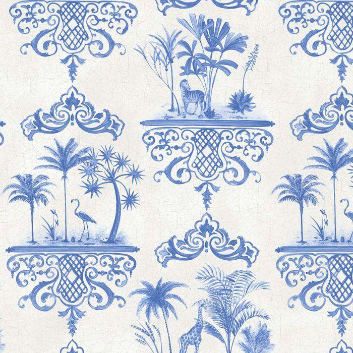 99/9037.CS Rousseau Cobalt Blue Cole & Son Wallpaper