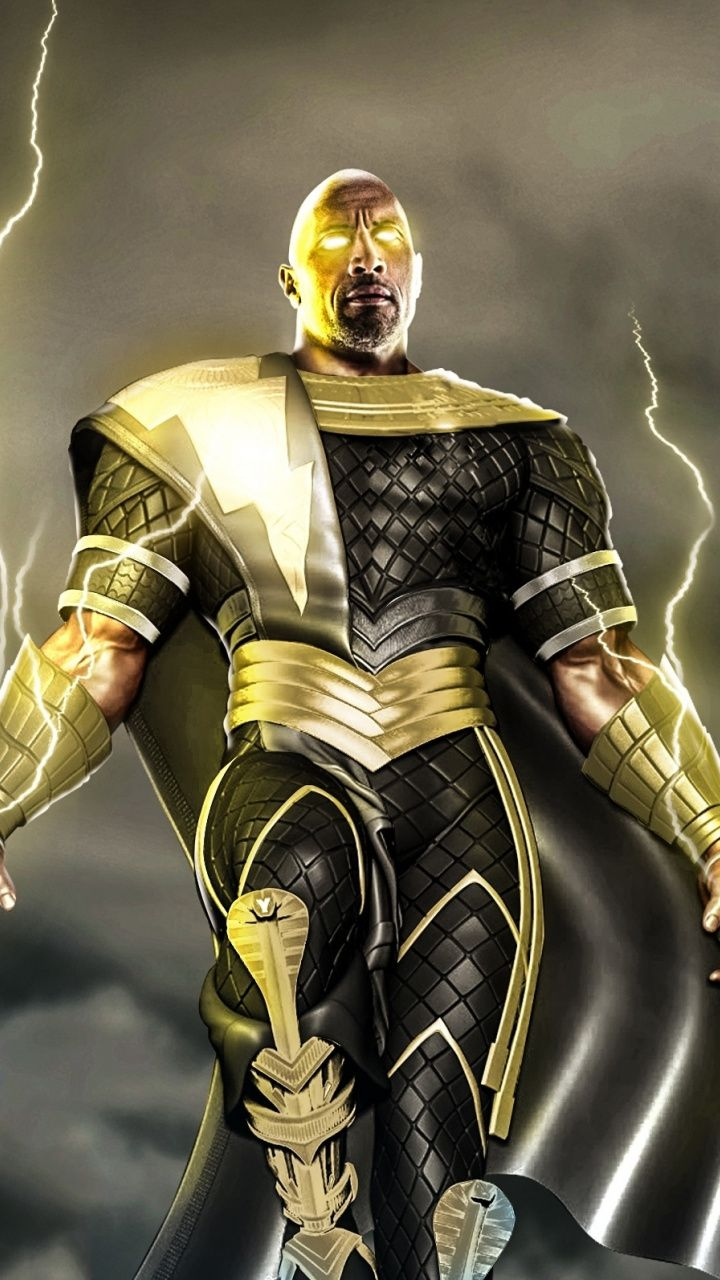 Movie Black Adam Dwayne Johnson 720x1280 Wallpaper