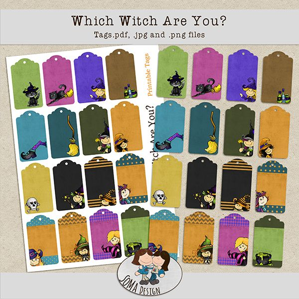 SoMa Design: Which Witch Are You? - Tags