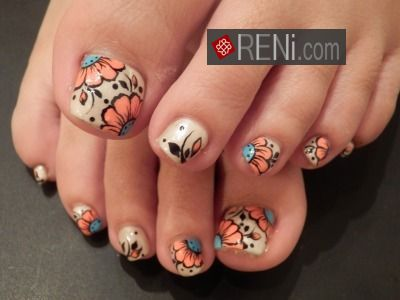 Amazing Nail Art By Reni.com : Shop Now reni Nail Polishes and Nail art Brushes Set on discount. Shop Now ->>http://goo.gl/ch2Nza | renifashion