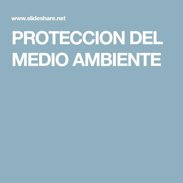 PROTECCION DEL MEDIO AMBIENTE