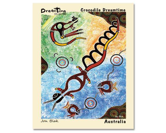 Australian Aboriginal Fine Art Canvas Dream by AboriginalOzArt