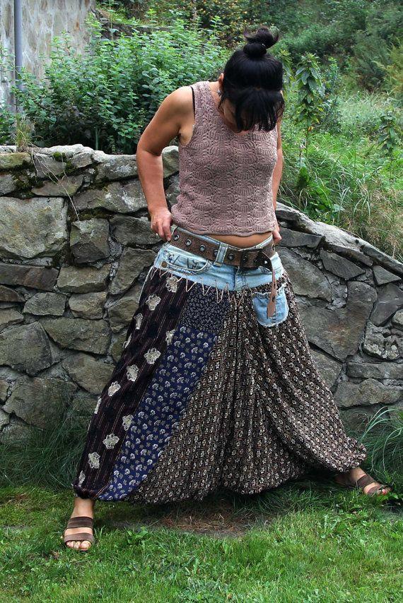 yoga harem alladyn jeans pants van jamfashion op Etsy