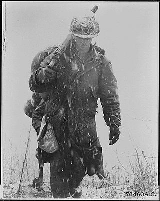 USA soldiers serving in Korea during its harsh and brutal winter of Korea.  I know what it is to freeze solid with the ground while on patrol.  These men were tough hombres'!  Tough enough to go back and do it again - if you asked it of them today! God Bless the Korean War Vets! Heroes All!