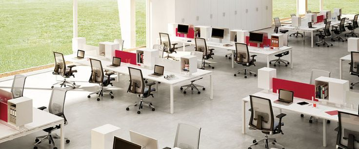 Tl tutti castelli workstations systems desks for Oficinas modernas concepto